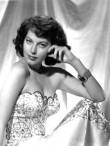 Ava Gardner Wears A Beautiful Gown