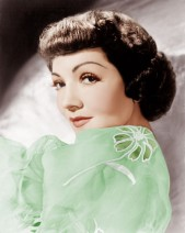 Claudette Colbert Dressed In Green