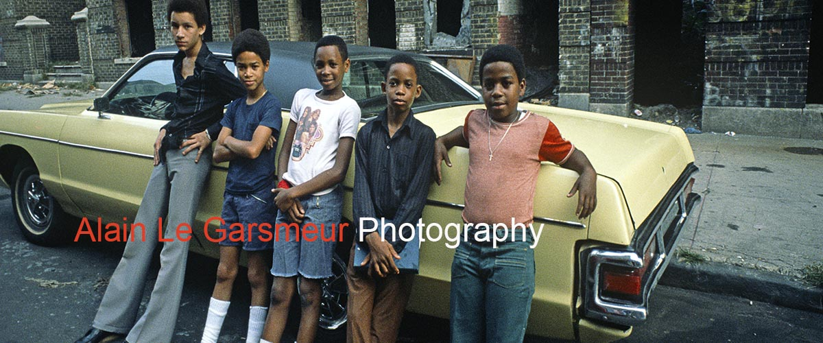 Teenagers In The Bronx New York in 1977 by Award winning documentary photographer Alain Le Garsmeur