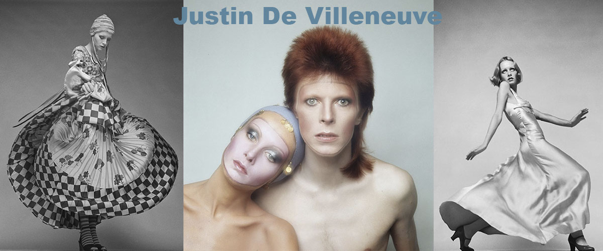 ustin de Villeneuve is a photographer, producer and entrepreneur who was a major influence on the fashion and culture in the Swinging 60s. De Villeneuve is mostly known as Twiggy's manager and partner. He also managed rock'n'roll artists like Tim Hardin, Jackie Lomax (for the Beatles label Apple) Jack Bruce who had recently left Cream when Justin helped him form the Jack Bruce Band. Justin was also an associate producer of 'The Boyfriend' directed by Ken Russell. As a photographer Justin photographed many icons of the 60's and 70's.