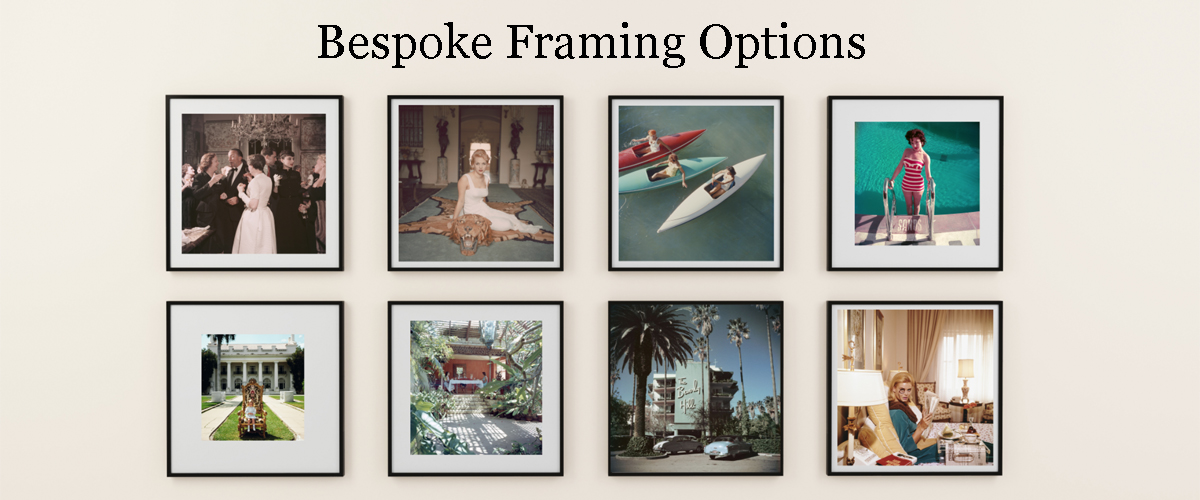 Galerie Prints offers bespoke framing options for their Slim Aarons and other prints.