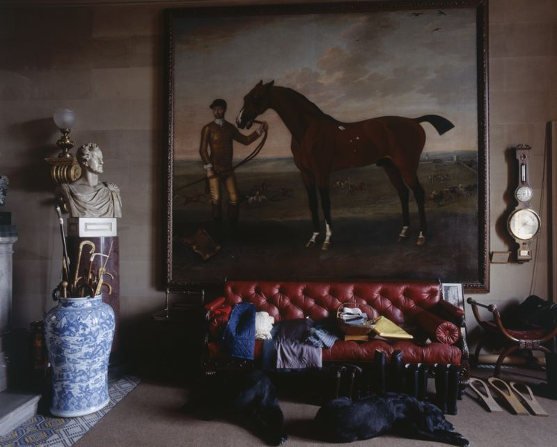A painting of a horse in Chatsworth House, Derbyshire, 1980s. (Photo by Christopher Simon Sykes/Hulton Archive/Getty Images)