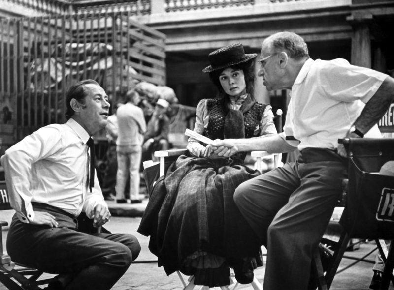 Audrey Hepburn On The Set Of My Fair Lady
