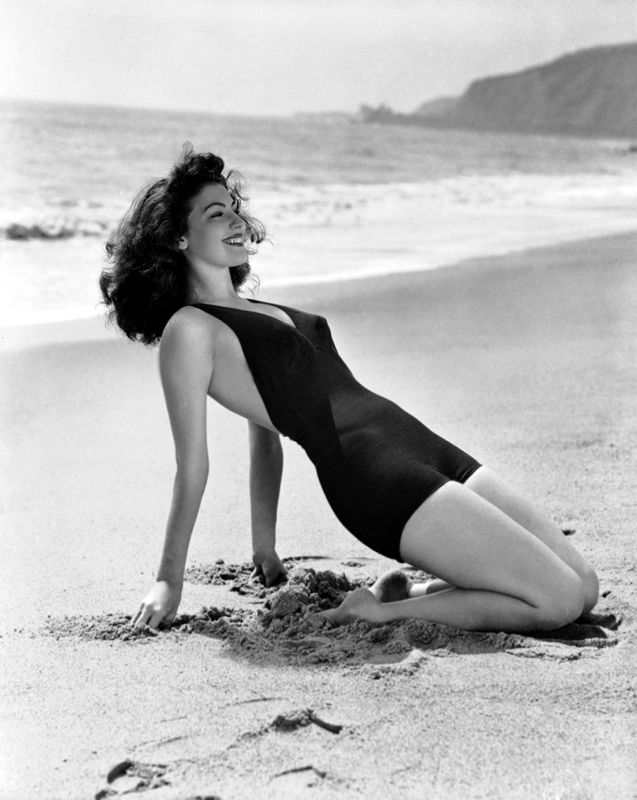 Ava Gardner Soaking Up The Sun
