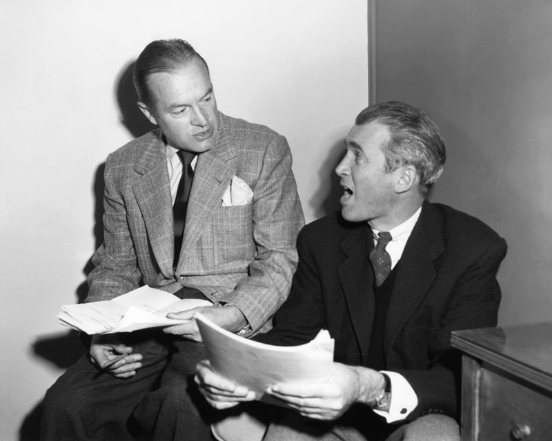 Bob Hope With Guest James Stewart