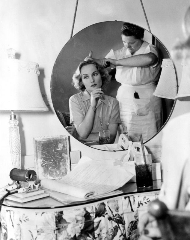 Carole Lombard In Hair & Makeup