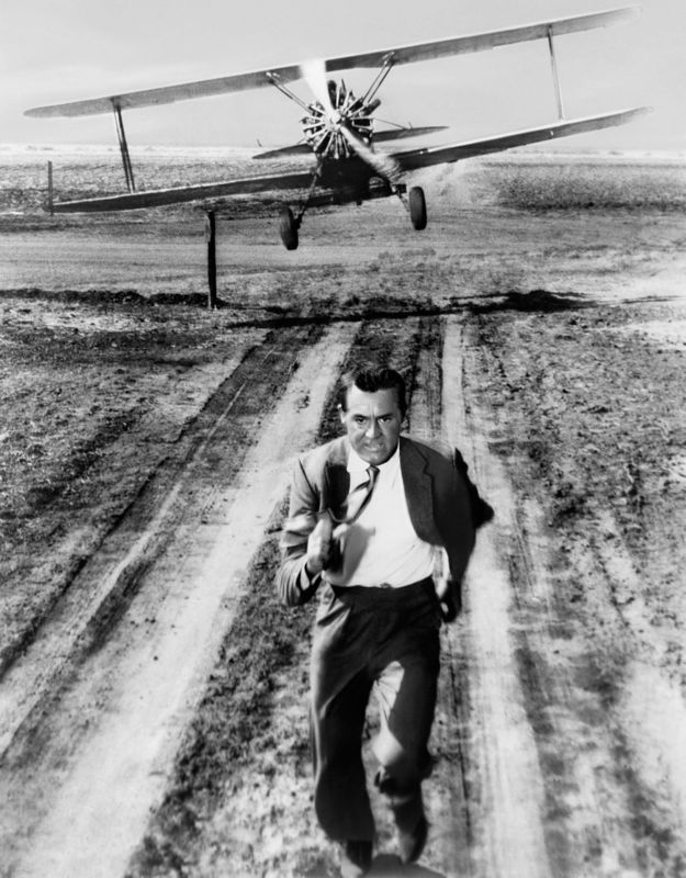 Cary Grant Plane Action