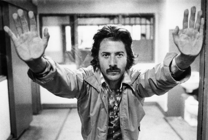 Dustin Hoffman On Set