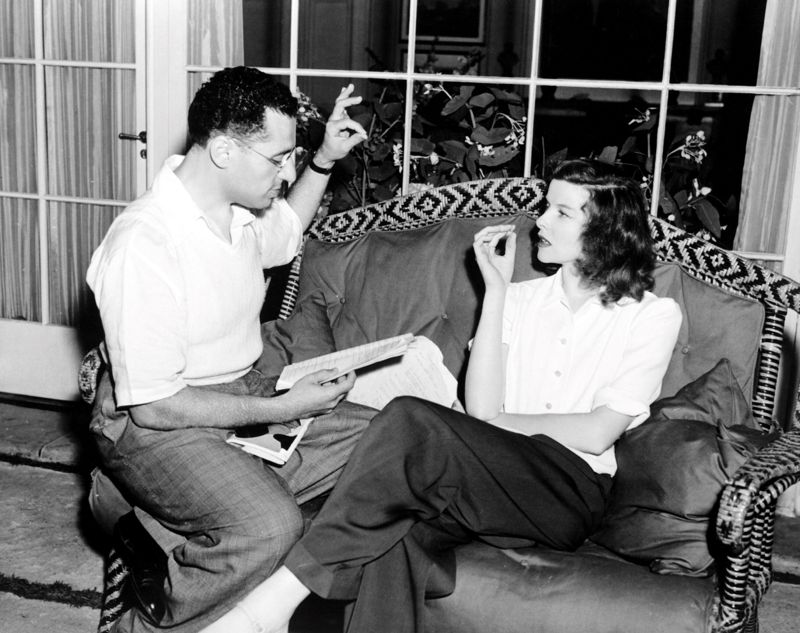 George Cukor & Katharine Hepburn On Set