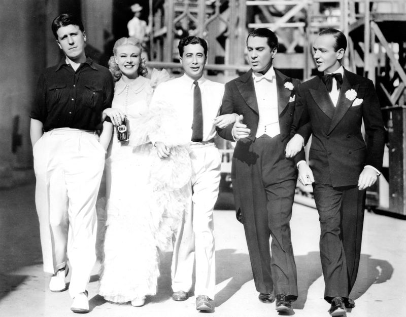 Ginger Rogers And Her Co-Stars In Swing Time