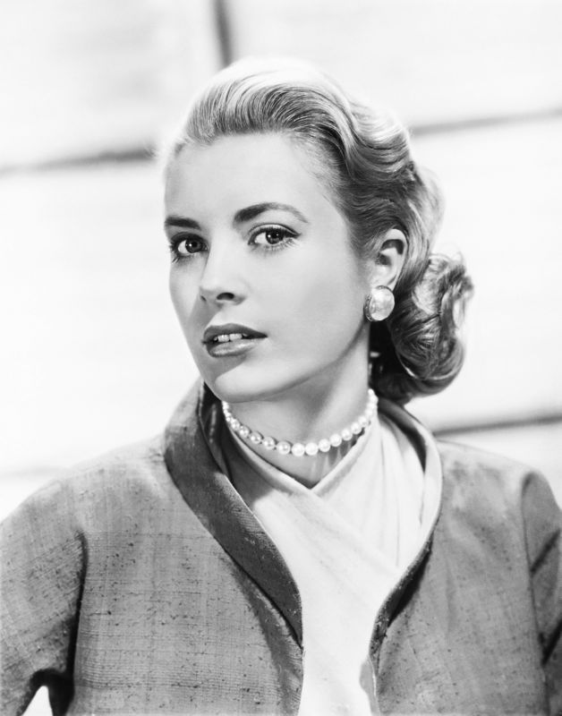 Grace Kelly In Jacket & Pearls