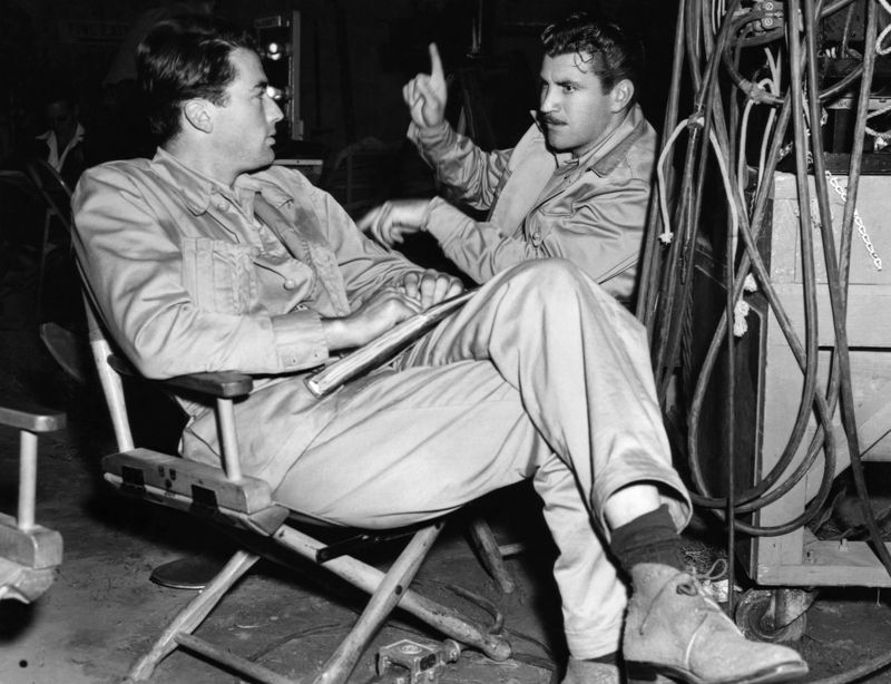 Gregory Peck & Robert Preston On-Set