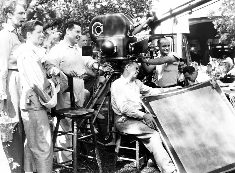 Hepburn & Director George Cukor On-Set