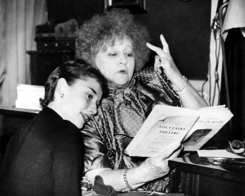 Hepburn Prepares With Writer Colette