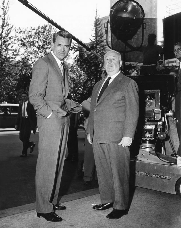Hitchcock & Cary Grant On Set
