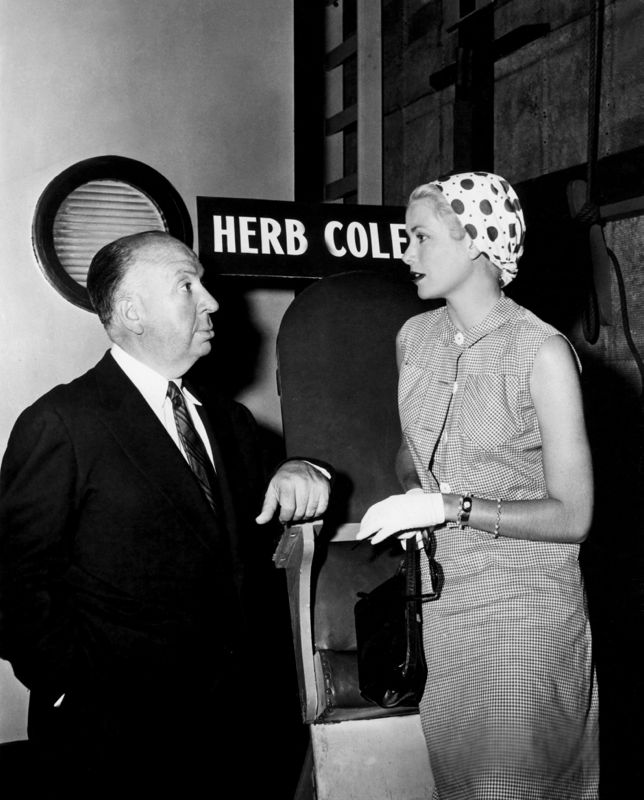 Hitchcock & Grace Kelly On Set