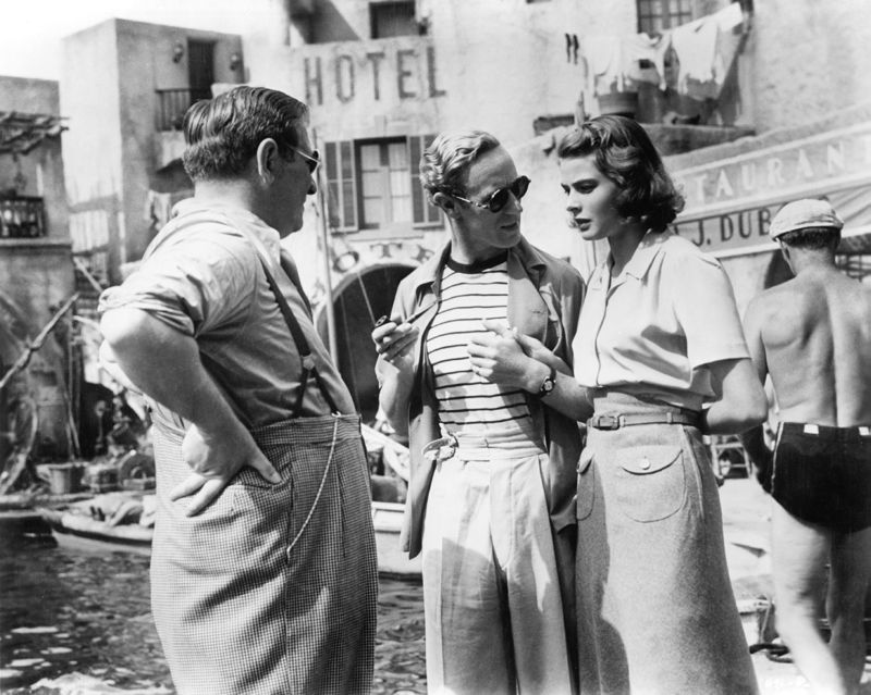 Ingrid Bergman, Gregory Ratoff & Leslie Howard In Venice On Set