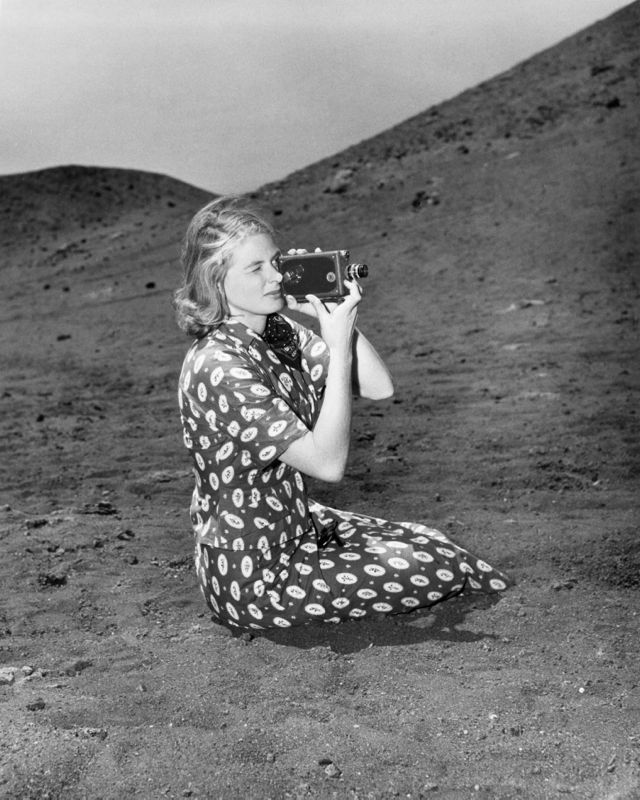 Ingrid Bergman On Set