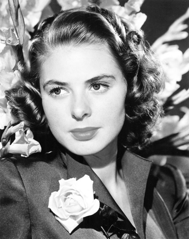 Ingrid Bergman With A Rose