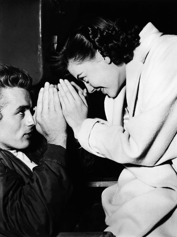 James Dean & Natalie Wood Goofing Around On Set
