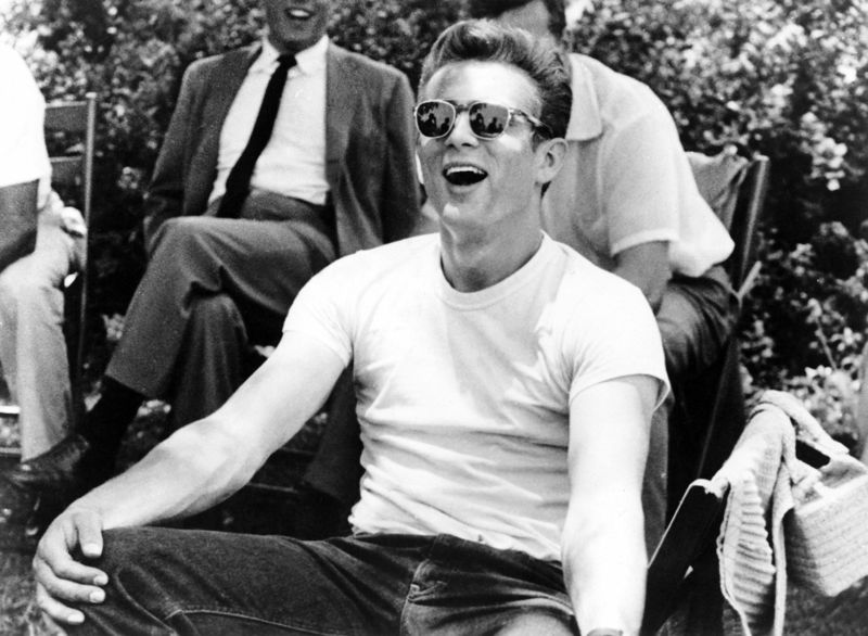 James Dean Having Fun On Set