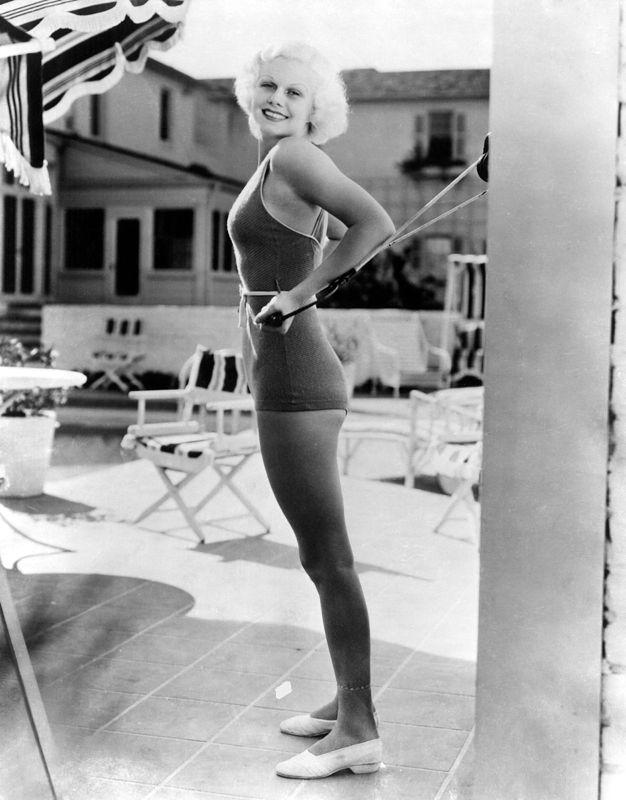 Jean Harlow By Her Pool