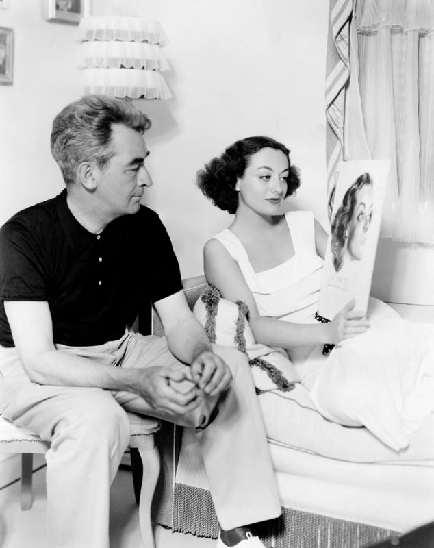 Joan Crawford & Artist James Montgomery Flagg