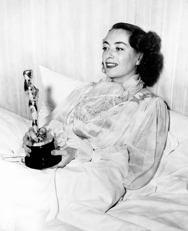 Joan Crawford In Bed With Oscar