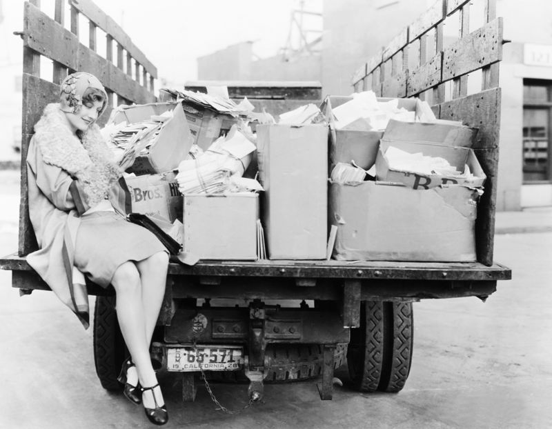 Joan Crawford With Her Fan Mail