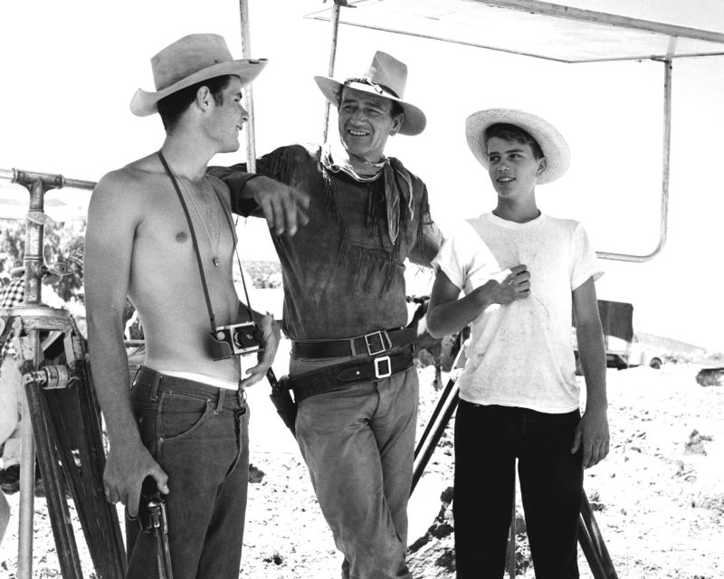 John Wayne & His Sons On Set