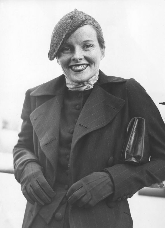 Katharine Hepburn Aboard The S. S. Paris