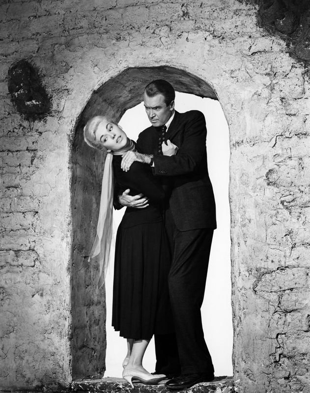 Kim Novak & James Stewart In A Scene