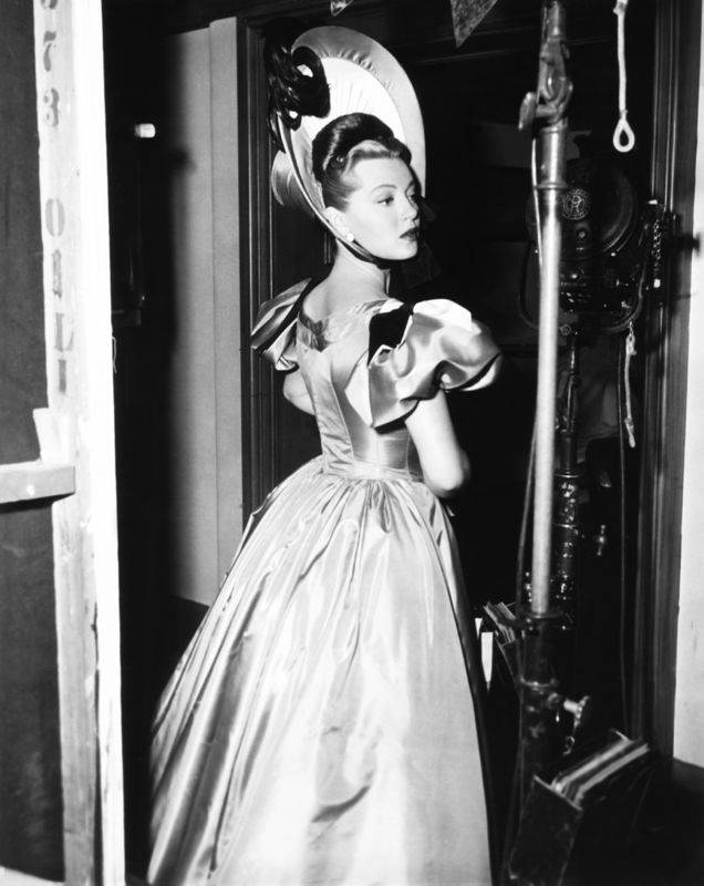 Lana Turner On Set In Costume