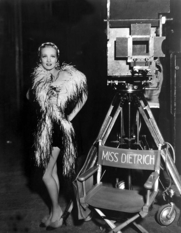 Marlene Dietrich On Set Looking Glamorous