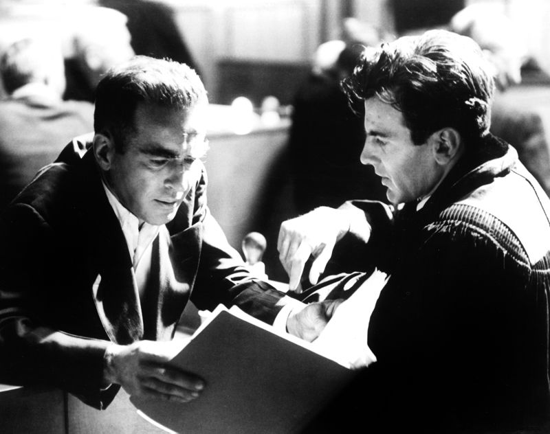 Montgomery Clift & Maximilian Schell In Rehearsals