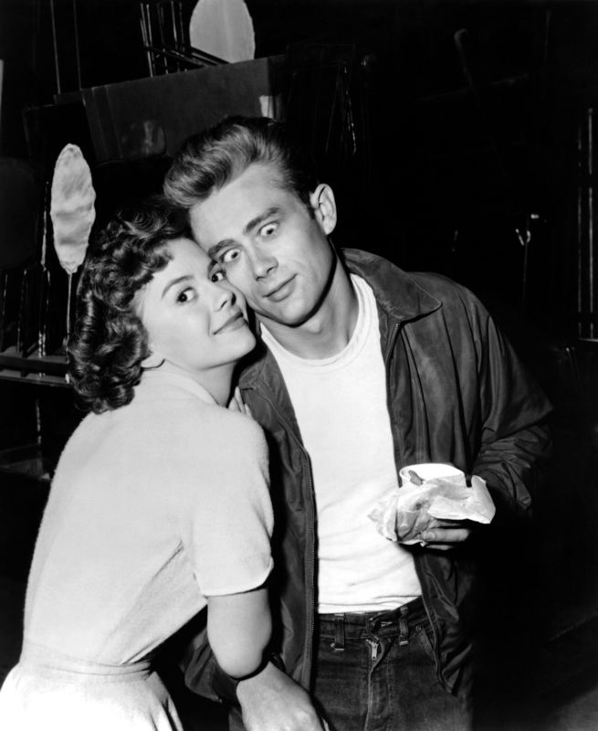 Natalie Wood & James Dean Goof Around On Set