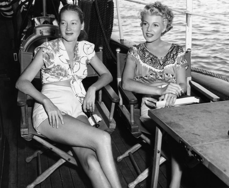 Nora Eddington & Rita Hayworth