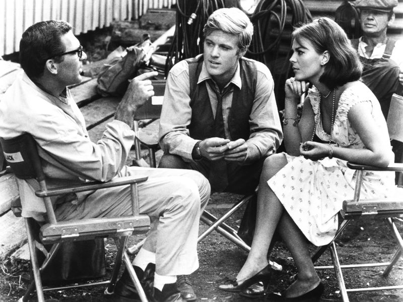Redford, Wood & Bronson On Set