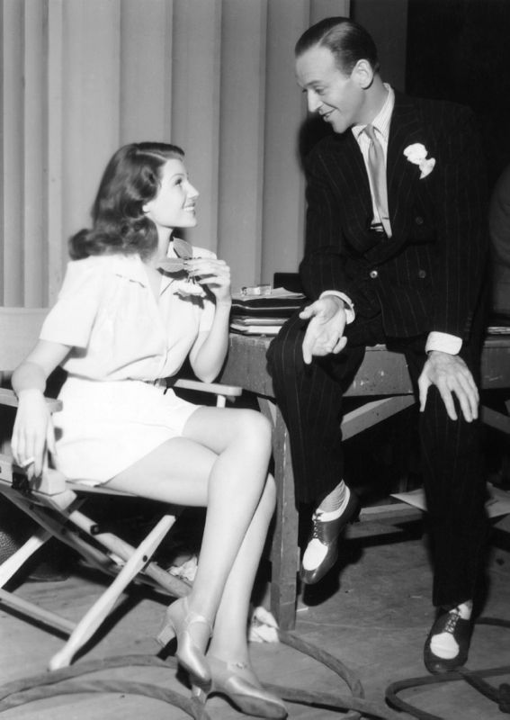 Rita Hayworth & Fred Astaire Relax Between Takes