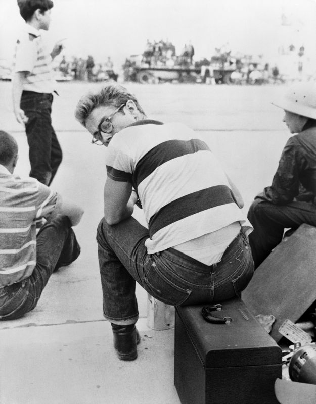 James Dean At A Car Rally