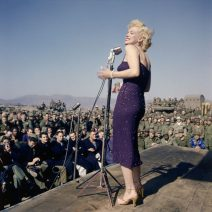 Marilyn Monroe Sings to US Marines