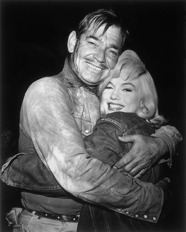 Marilyn Monroe and Clark Gable Bid Goodbye