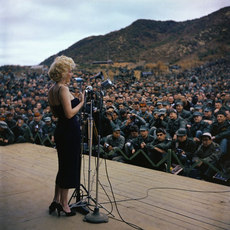 Marilyn Monroe Entertaining Troops