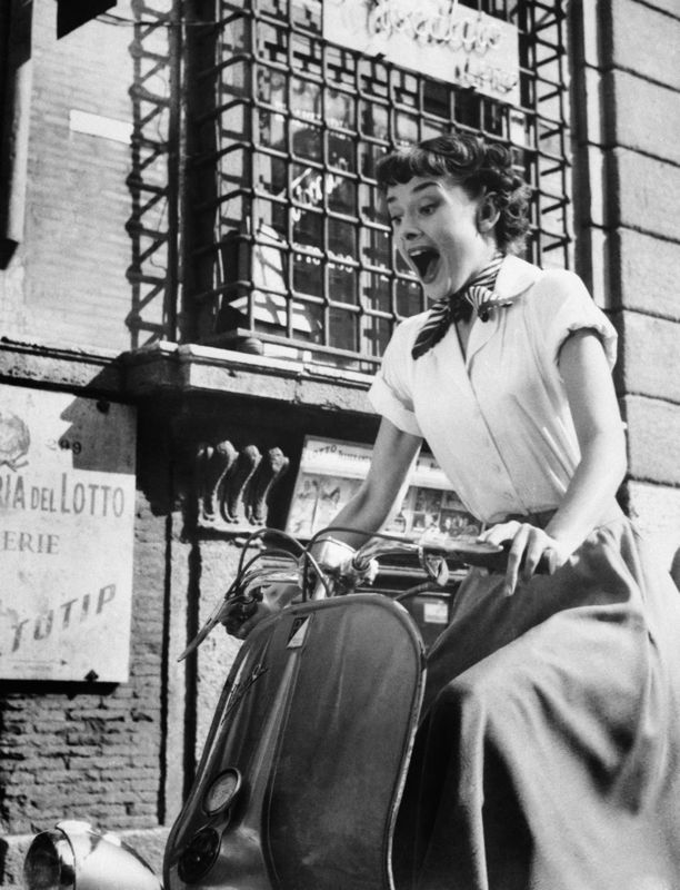 Audrey Hepburn on a Motorscooter