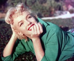 Marilyn Monroe Laying on the Grass