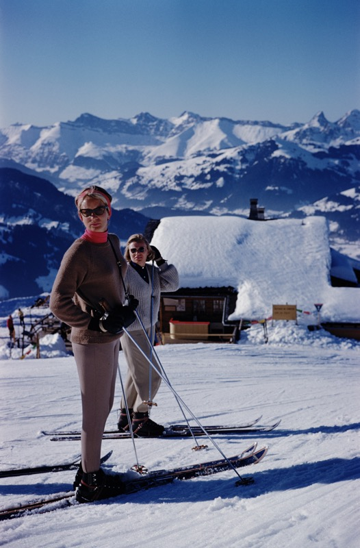 Skiers at Gstaad