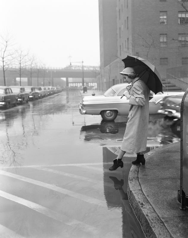 Woman in a Rain Coat