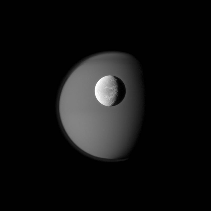 Dione with Titan
