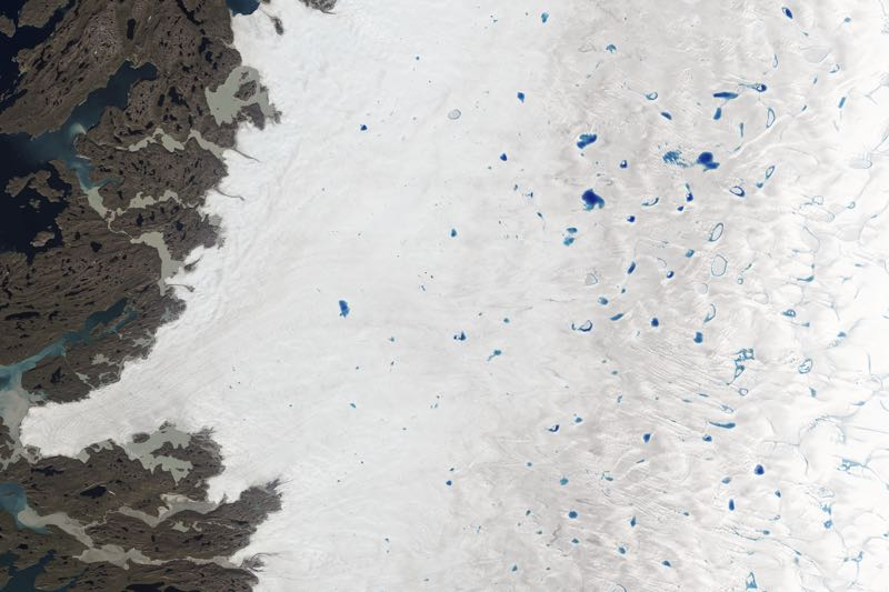 Meltwater Lakes Greenland