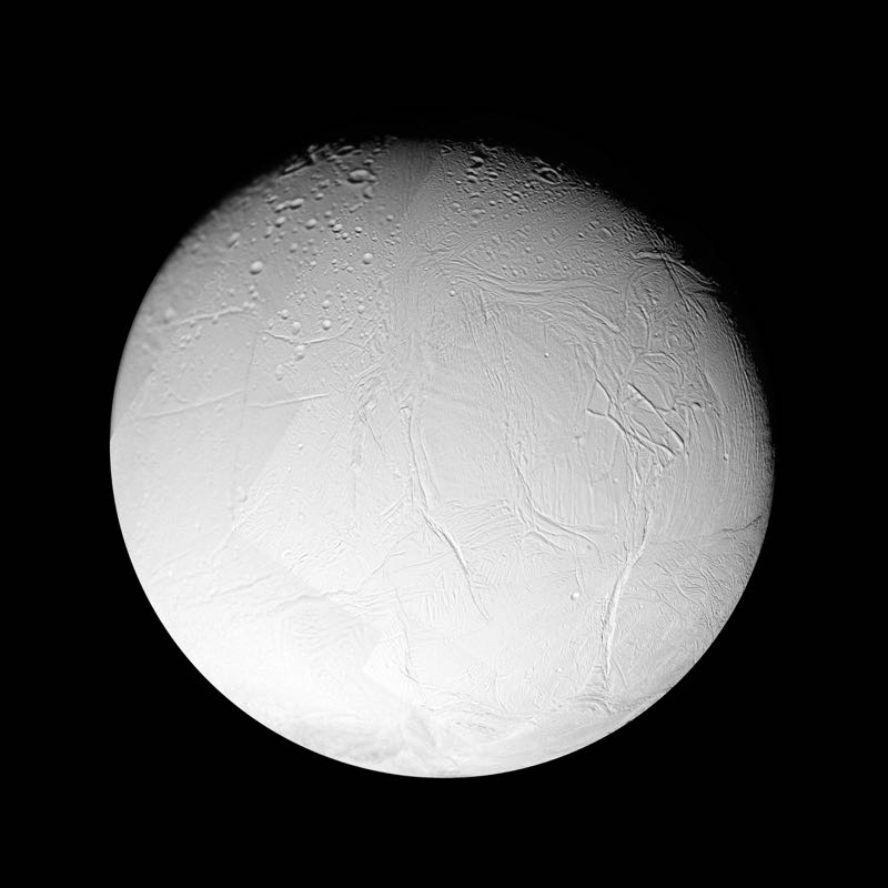 Enceladus Sixth-largest Moon of Saturn